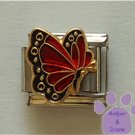 January BUTTERFLY Birthstone with deep red-garnet colored wings