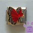 July BUTTERFLY Birthstone with red-ruby colored wings