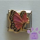 October BUTTERFLY Birthstone pink-tourmaline opal colored wings