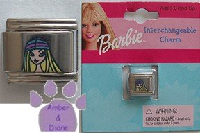 Barbie Italian Charm in a pink and blue hat