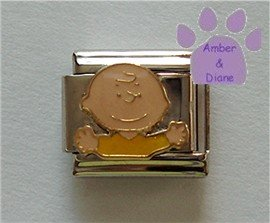 Charlie Brown Italian Charm from the Peanuts Gang