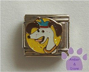 Dog with a Crown Italian Charm Royal Witch