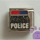 FASHION POLICE Italian Charm with police car flashing lights