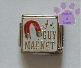 GUY MAGNET Italian Charm with a red Magnet