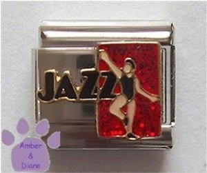 JAZZ Dancer Italian Charm - Dancing, Dance