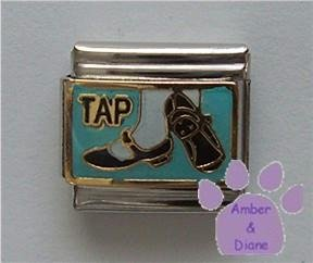 TAP Italian Charm with Tap Shoes Posed to Dance