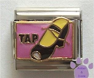 TAP with Tap Shoe Italian Charm for Dancer - Dancing, Tap Dance