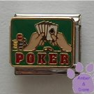 Poker Hand Italian Charm - Poker Chips and Playing Cards