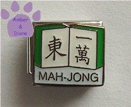 MAH-JONG Italian Charm with Chinese Characters on Book