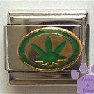 Hemp Leaf Italian Charm Marijuana Leaf