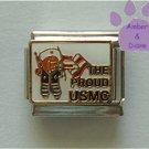 USMC Teddy Bear Italian Charm United States Marine Corps