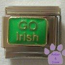 GO Irish Italian Charm on Shamrock Green background