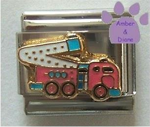 Fire Truck with Ladder Italian Charm for Fire Fighter