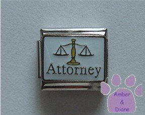 Attorney Italian Charm with the Scales of Justice