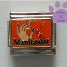 Manicurist Italian Charm Hand with Nail Polish on orange