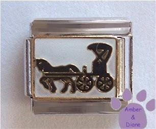 Horse and Buggy Italian Charm - Amish or Mennonite Carriage