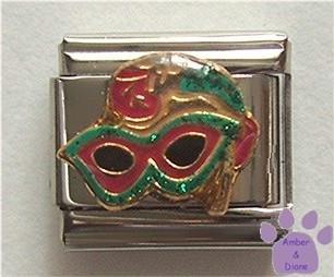 Mardi Gras Mask Italian Charm for a Masquerade Ball
