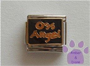 0% Angel Italian Charm on black
