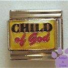 CHILD of God Italian Charm on Yellow Enamel Background