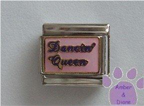 Dancin' Queen Italian Charm on pink