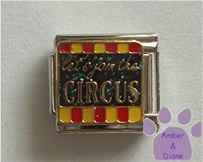 Let's join the CIRCUS Italian Charm on black glitter