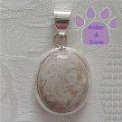 Jasper Sterling Silver Pendant Milky Cream Oval