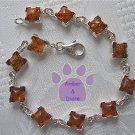 Baltic Amber Sterling Silver Bracelet Honey squares
