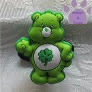 Good Luck Bear Shoe Doodle Charm Carebears green Care Bears for Crocs