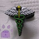 Medical Symbol Shoe Doodle Shoe Charm - Caduceus for Crocs