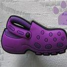 Purple Clog Shoe Doodle Shoe Charm for Crocs