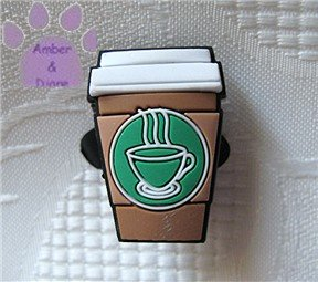 Take-Out Coffee Shoe Doodle Coffee To Go Shoe Charm for Crocs