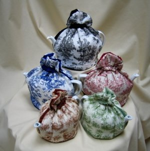 Azure Toile Tea Cozy Small