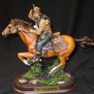 Pony Express Horse and Rider Figurine