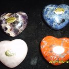 "Set of Four Gemstone ""Puff"" Pocket Hearts 45mm"