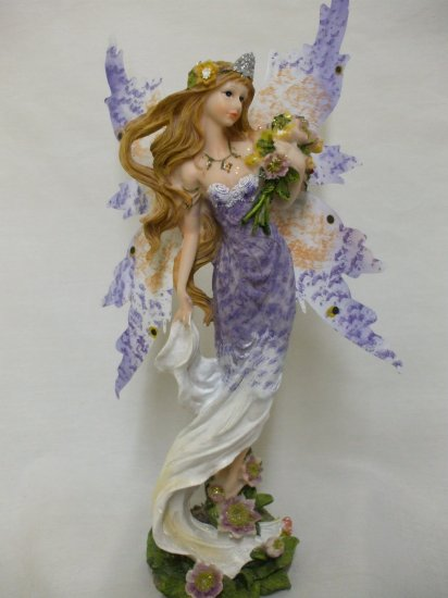"""14"""" Butterfly Wing Fairy From The Fairy Hollow Collection: Purple"""