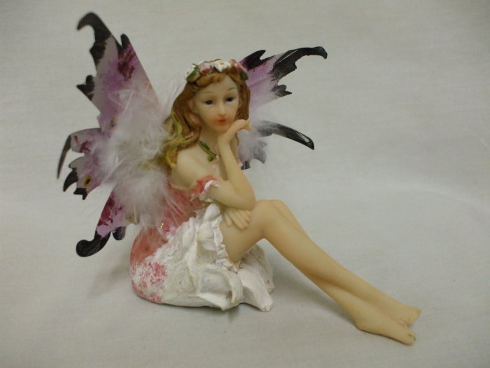 """4"""" Resting Fairy Butterfly: Red"""
