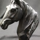 poly resin horse head:black