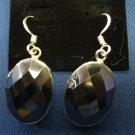 hematite facetted earrings