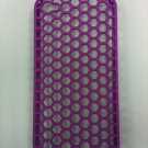 MESH HARD PURPLE COVER CASE FOR IPHONE 4G