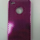PINK METALLIC CHROME HARD CASE FOR IPHONE 4G