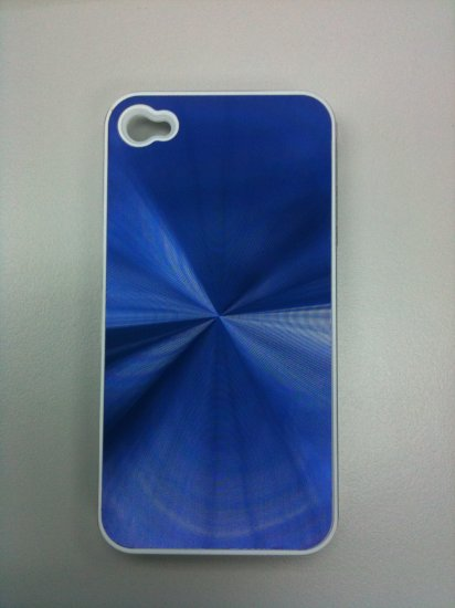 BLUE NEW SHINE HARD CASE COVER FOR IPHONE 4G