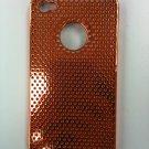 ORANGE METALLIC CHROME HARD CASE FOR IPHONE 4G
