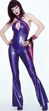 Handmade Sexy Costume Latex Rubber Catsuit  #cts008