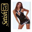 Sexy  catsuit Latex Rubber Dress  #skn035