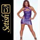 Catsuit Purple Sexy Latex Dress  #skn046