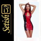Red Catsuit  Sexy Latex Dress  #skn050