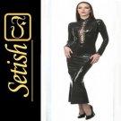 New Black Sexy Latex Dress ST014