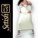 White  Rubber Skirt  Sexy Latex Dress SYS020