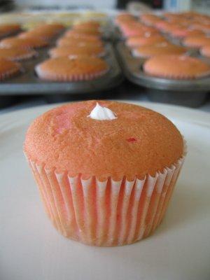 Strawberry Cupcakes with Custard Filling - 1 dozen
