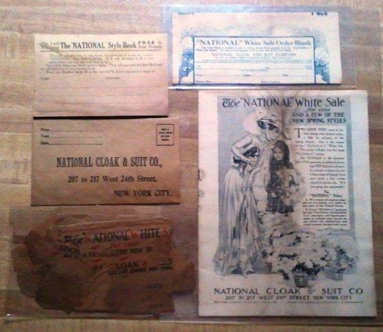 1909 National Cloak & Suit Co.-5 Piece Advertisement